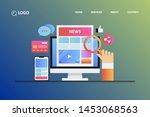 modern concept   online news ...   Shutterstock .eps vector #1453068563