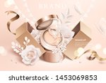 foundation cushion ads with... | Shutterstock .eps vector #1453069853