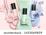 colorful nail lacquer ads with... | Shutterstock .eps vector #1453069859