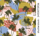 abstract creative seamless... | Shutterstock .eps vector #1453073936