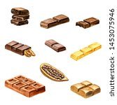 watercolor drawing chocolate... | Shutterstock . vector #1453075946