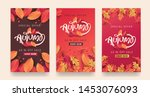 autumn sale background layout... | Shutterstock .eps vector #1453076093