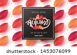 autumn sale background layout... | Shutterstock .eps vector #1453076099