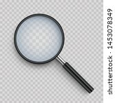 realistic magnifying glass with ... | Shutterstock .eps vector #1453078349