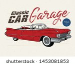 classic car  vintage style....   Shutterstock .eps vector #1453081853