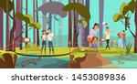 natural reserve excursion flat... | Shutterstock .eps vector #1453089836