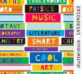 school textbook flat vector...   Shutterstock .eps vector #1453090163
