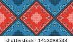 seamless pattern based on... | Shutterstock .eps vector #1453098533