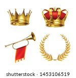 two gold crowns king horn and... | Shutterstock .eps vector #1453106519
