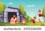 stone age prehistoric people... | Shutterstock .eps vector #1453106600