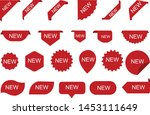 stickers for new arrival shop... | Shutterstock .eps vector #1453111649