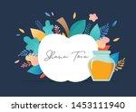 rosh hashana  jewish holiday.... | Shutterstock .eps vector #1453111940