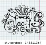 doodle banners for sale in e... | Shutterstock .eps vector #145311364