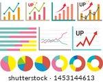 line graph vector illustration...   Shutterstock .eps vector #1453144613