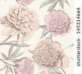 Seamless Rose Sketch Pattern....