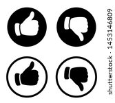 like icon and dislike icon. i... | Shutterstock . vector #1453146809