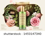 gentle herb toner ads with... | Shutterstock .eps vector #1453147340