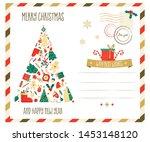merry christmas greeting... | Shutterstock .eps vector #1453148120
