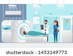 doctor standing and man lying... | Shutterstock .eps vector #1453149773