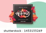 autumn sale background layout... | Shutterstock .eps vector #1453155269