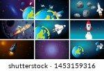 large set of space scenes...   Shutterstock .eps vector #1453159316