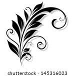 vintage floral design element...