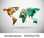 world map  grunge. eps 10 | Shutterstock .eps vector #145316743