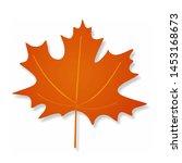 Orange Shadow Vector Maple Leaf ...