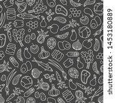 farmer's market seamless... | Shutterstock .eps vector #1453180889
