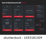 big  huge  enhanced ui kit for... | Shutterstock .eps vector #1453181309