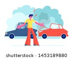 car accident on road  angry...   Shutterstock .eps vector #1453189880
