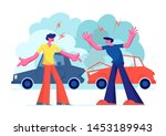 car accident on road  couple of ...   Shutterstock .eps vector #1453189943