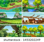sets of empty nature... | Shutterstock .eps vector #1453202249