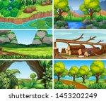 sets of empty nature... | Shutterstock .eps vector #1453202249