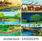sets of empty nature... | Shutterstock .eps vector #1453202393