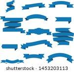 dark blue ribbon set inisolated ... | Shutterstock .eps vector #1453203113