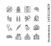 medical issues line icon set.... | Shutterstock .eps vector #1453213829