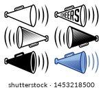 bullhorn icon    cheers... | Shutterstock .eps vector #1453218500
