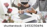 team of business analysts... | Shutterstock . vector #1453250696