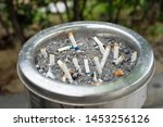 cigarette buds with ashtray in...   Shutterstock . vector #1453256126