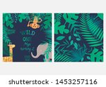 vector illustration with... | Shutterstock .eps vector #1453257116