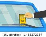 parking violation ticket fine...   Shutterstock .eps vector #1453272359