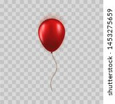 realistic red balloon isolated... | Shutterstock .eps vector #1453275659