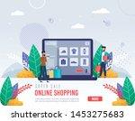 poster inscription super sale... | Shutterstock .eps vector #1453275683