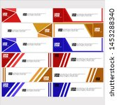 vector abstract geometric... | Shutterstock .eps vector #1453288340