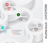 vector illustration abstract 3d ... | Shutterstock .eps vector #145329088