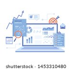 financial report. accounting ... | Shutterstock .eps vector #1453310480