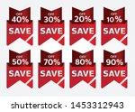 red banner promotion tag design ...   Shutterstock .eps vector #1453312943