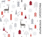 seamless christmas pattern.... | Shutterstock .eps vector #1453315466
