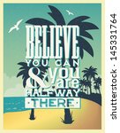 retro vintage summer poster... | Shutterstock .eps vector #145331764